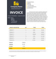 creative of invoice form vector image