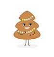 cute gingerbread christmas tree vector image