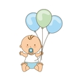 cute little baby icon vector image vector image