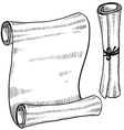 doodle scroll paper vector image vector image