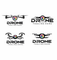 drone camera logo set vector image