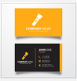 flashlight icon business card template vector image vector image