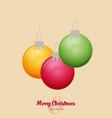 flat christmas balls christmas card vector image vector image