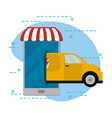 food order delivery vector image vector image