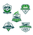 football club icons of soccer balls vector image vector image