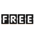 free white text black background image vector image