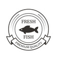 fresh fish black marine seafood product isolated vector image