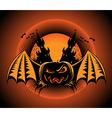 Haloween label with pumpkin vector image vector image
