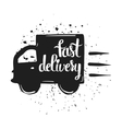 Hand drawn typography poster fast delivery vector image