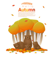 Hello autumn background with bears vector image vector image