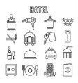 Hotel Themed Line Graphics vector image