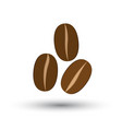 icon with coffee beans vector image