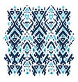 ikat ornament tribal pattern vector image vector image