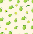 lemon fruit on a white background seamless vector image vector image