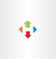 letter h arrows icon symbol logo vector image vector image