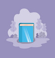 library book isolated icon vector image