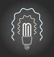 Lighting energy save lamp on dark background vector image vector image