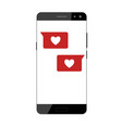 like icon on a smartphone vector image vector image