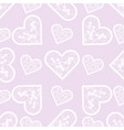 love print abstract lace hearts seamless pattern vector image vector image