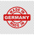 made in germany red stamp on isolated background vector image