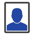 man portrait flat icon vector image vector image