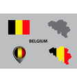 Map of Belgium and symbol vector image vector image