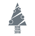 modern christmas tree logo simple gray style vector image vector image