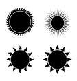 modern sun icons set on white vector image vector image