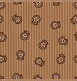 monkey seamless pattern background ape textile vector image