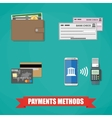 Payment Methods Icons vector image vector image