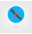 pencil and ruler in circle with shadow vector image vector image