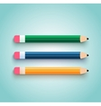 Pencil set flat design vector image vector image