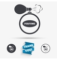 Perfume bottle sign icon Glamour fragrance vector image vector image