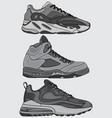 printset sneakers design vector image vector image