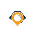 pushpin podcast logo icon design vector image vector image