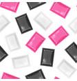 realistic detailed 3d disposable foil sachet vector image vector image