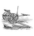 Reaper vintage engraving vector image