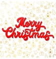 Red 3d Xmas lettering on Christmas background vector image vector image