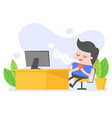relaxing vector image