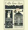 retro set design elements for a coffee house vector image vector image