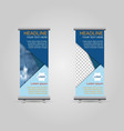 roll up banner business on gray background vector image
