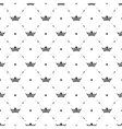 Seamless black pattern with king crowns vector image vector image