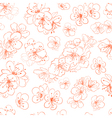 seamless pattern cherry blossoms vector image vector image