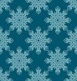 seamless pattern with snowflake vector image