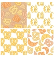 Set of bakery seamless patterns vector image