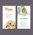 set of flyer templates with colorful drawings of vector image vector image