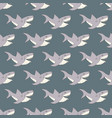 shark seamless pattern hand drawn sketched doodle vector image vector image