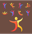 silhouette abstract people performance character vector image