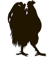 silhouette of the cock vector image vector image