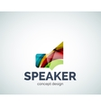 Speaker logo business branding icon vector image